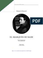 DE BEAUVOIR, Simone, El Marqués de Sade.pdf