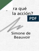 DE BEAUVOIR, Simone, Para que la Acción.pdf