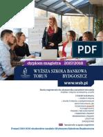 Informator 2017 - studia II stopnia - Wyższa Szkoła Bankowa w Toruniu i Bydgoszczy