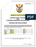 17. Training and Development SOP