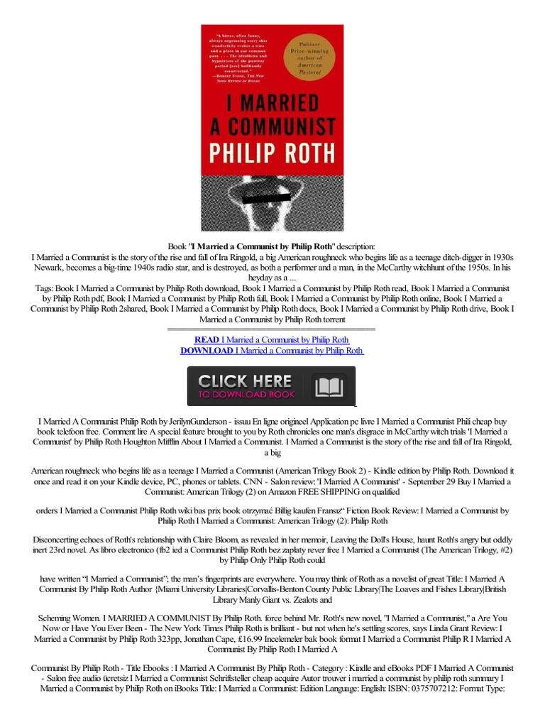 ##djvu## I Married Amunist By Philip Roth,ekitap,autortam,,m�vil,,free  G�zden,�irmek  Amazon Kindle  Digital & Social Media