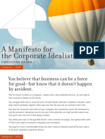 A Manifesto for the Corporate Idealist