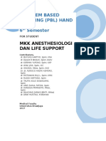 Modul Pbl - Student Guidance Anestesiologi Dan Life Support