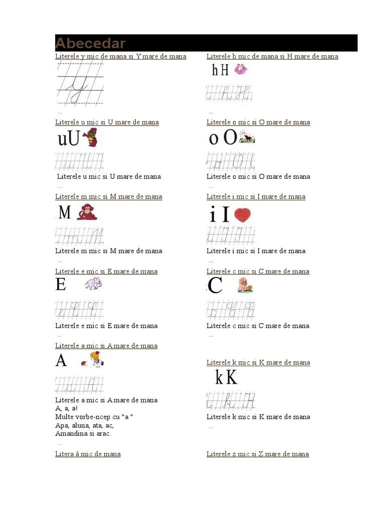 Abecedar Scrisul Literelor 1docx