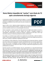 Press Nuno Matos 10.07.14 Anulacao Baja Algarve