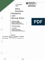 ASME A17.1 Elevators Dumbwaiters, Escalator and Moving Walk 1971