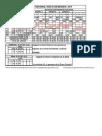 Sub 23 Calendario Grafico 2017 IV Snb