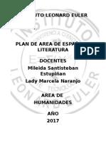 Planeación Anual Lengua Castellana 2017
