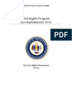 State of the Coast Guard Civil Rights Program Accomplishments 2012