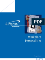 Workplace Personalities Blue Paper