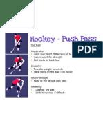 hockey push pass skill card