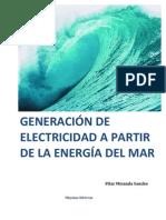 Generación de Electricidad a partir de la energía del mar