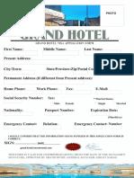 Grand Hotels Visa Application Form G-ttt