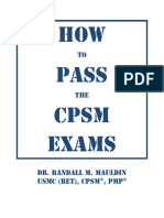 How to Pass the CPSM Certification Exams 2011 8