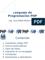 2. Lenguaje de Programacion Php