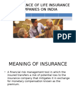 Performance of Life Insurance Companies on India
