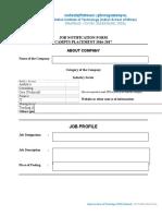 Job Notification Form