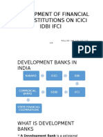 Development of Financial Institutions on Icici Idbi Ifci.pptx Suraj Kumar