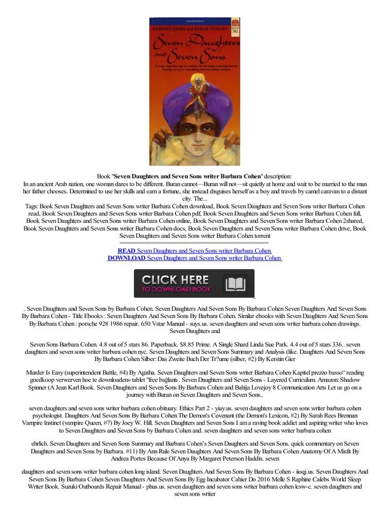 –�offline▴ Seven Daughters And Seven Sons Writer Barbara  Cohen,mobile,tekst Verkoop,lookleitor Versi�npleta  Online Services   E Books