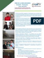 Informe de La Obra Misionera Junio