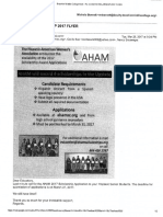 aham scholarship flyer