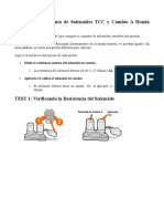 Pruebas Del Conjunto de Solenoides TCC y Cambio Honda