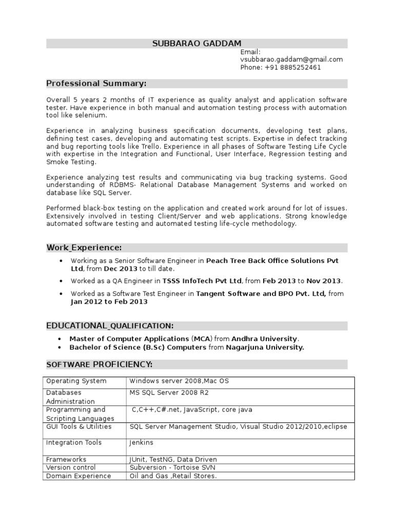 Subbarao Selenium 4Years | Selenium (Software) | Software