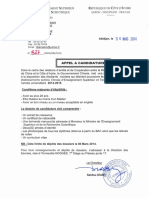 Appel a Candidature CHINE