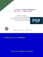 A tribute to Prof. Olek Zienkiewicz