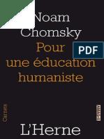 Pour Une Education Humaniste - Noam Chomsky