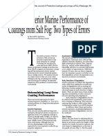 Exterior Marine Performance of Coatings From Spary Fog