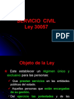 Ley de Servicio Civil.