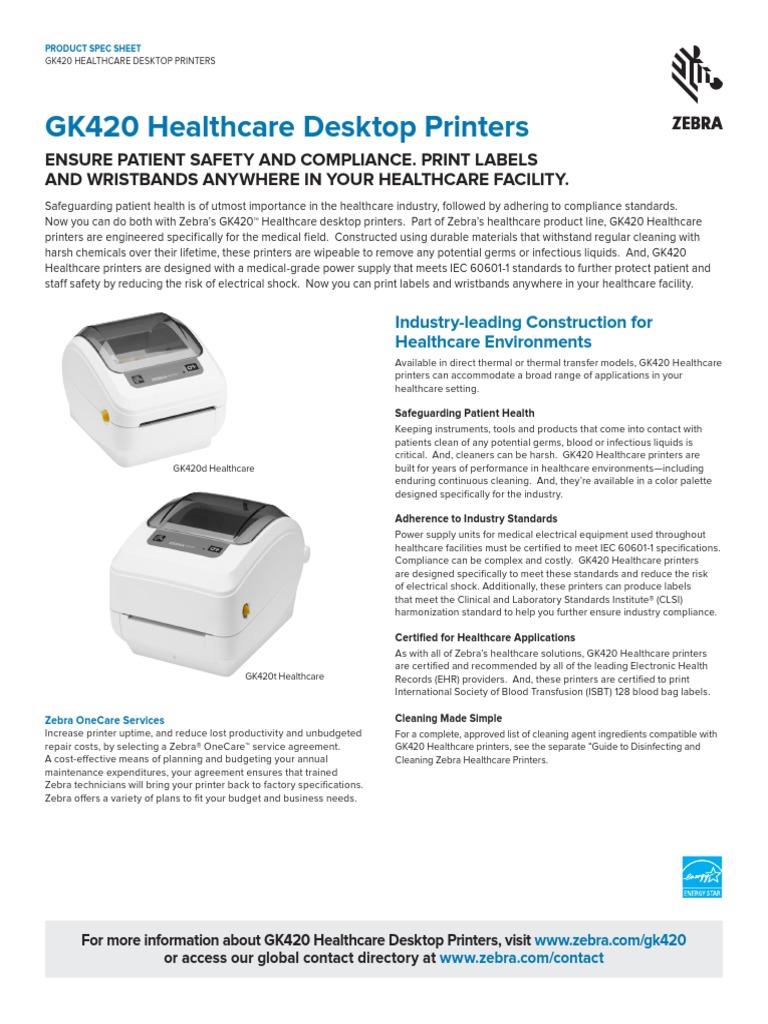 gk420-healthcare-datasheet-en-us pdf   Printer (Computing