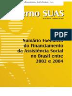 Caderno SUAS1 Financiamento Da Assistencia Social