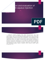 Formulation and Evaluation of Ofloxacin Aqueus Injection