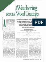 Weathering for Wood Coatings