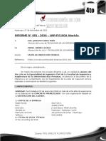 Informe PLANTA DE CONCRETO PREMEZCLADO