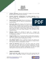 Xii Chem Ch7 Thep-blockelements Chapternotes Nov