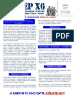 Boletín Seccional ANEP Fuerza Pública x6 Abril-2017 (1)