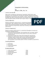Syllabus manajemen operasional