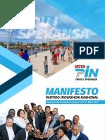 Manifesto dinámiko di Partido Inovashon Nashonal   PIN