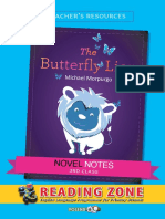 Novel Notes 3rd Class the Butterfly Lion v9