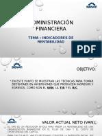 Clase Indicadores de Rentabilidad - ADMINISTRACIÓN FINANCIERA