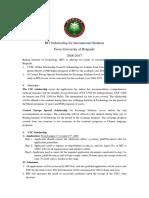 2016 BIT Scholarship Proposal for University of Belgrade