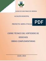 Cierre Tecnico Del Vertedero de Desechos Obras Complementarias