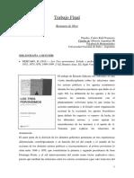 [Resumen] Ricardo Sidicaro - Los Tres peronismos. Estado y poder económico (1946-1955, 1973-1976, 1989-1999)