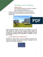 Petroleo y Energia Solar
