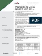 Ficha Técnica Tablacemento marca DUROCK® NEXT GEN e+ (Español)