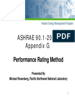 ASHRAE 90.1 - 2004 Appendix G - Performance Rating Method