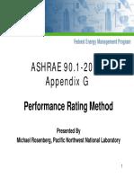ASHRAE 90.1 - 2004 Appendix G - Performance Rating Method